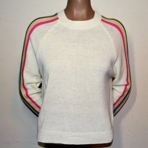 rue21 Striped Sleeve Pullover Sweater Sz Small